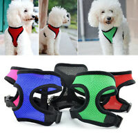 AS_ PET CAT PUPPY DOG HARNESS SOFT MESH VEST WALK COLLAR SAFETY LEASH STRAP TEMP
