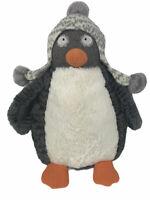 "Pier 1 One Imports Penguin Gray White Knit Hat 16"" Plush Stuffed Animal"