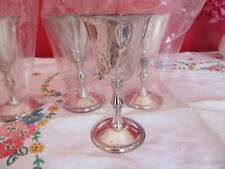 Lovey Vintage silver plated on Brass Goblets  Champagne  Wine HEJL Denmark