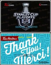 2x TIM HORTON HOCKEY STANLEY CUP RECHARGABLE THANK YOU COLLECTIBLE GIFT CARD LOT