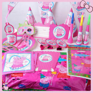 Peppa Party Tableware and Decorations Kids Children Birthday Decor Accessories
