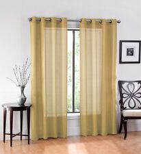 Ultra Luxurious Elegant Sheer Grommet Curtain Panels - Assorted Colors