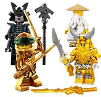LEGO NINJAGO GOLDEN NINJA LLOYD GARMADON GOLD DRAGON MASTER SENSEI WU MINIFIGURE