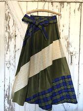 Vintage Chessa Davis Maxi Skirt Velvet Lace Quilted Artsy Boho Gypsy Hippie M/L