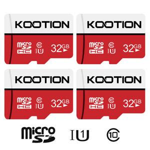 4 Pack 32GB 64GB Micro SD Card SDXC SDHC Class 10 Memory TF Card Storage Card U1