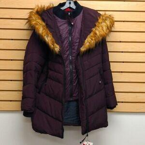 Canada Weather Gear Womens faux fur hooded jacket 2 layers zipper - 2X