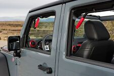 GraBars REAR ONLY Grab Bars with Red Grips 07-17 Jeep Wrangler JK 4 Door 1004R