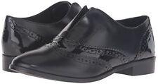 STEVEN by Steve Madden Womens Alvanah Oxford, Black Leather, 7.5 M US