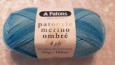 Patons Patonyle Merino Ombre 4 Ply #3337 Capri Waters Sock Yarn 50g
