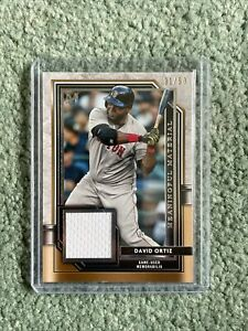 DAVID ORTIZ 2021 TOPPS MUSEUM COLLECTION MEANINGFUL MATERIALS RELIC 31/50