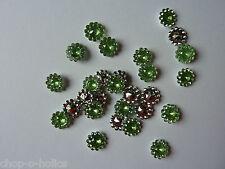100pcs 11MM crystal Gems round sunflowers Appliques/Wedding decoration Green