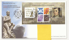 GB FDC 2009 Robert Bruce 250th. Anniv m/s