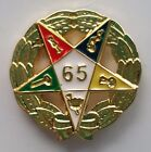 65 YEAR SERVICE AWARD ORDER OF EASTERN STAR lapel pin gold