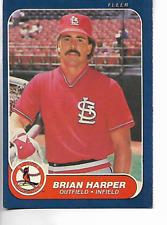 1986 Fleer Brian Harper Card