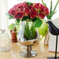 1 Bunch 9 Heads Artifical Silk Flower Bouquet Wedding Party Birthday Home Decor