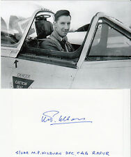 CANADIAN WWII ACE Michael Kilburn 6.5 Victories SIGNED 3x5 CARD RCAF