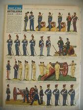 CORRIERE DEI PICCOLI N° 50 12/12/1965 CON FIGURINE ARTIGLIERIA 1848 - 1860