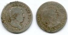 TOP RARE MONNAIE DE 50 CENTIMES ARGENT DE SARDAIGNE ITALIE ITALY 1826 @ AIGLE