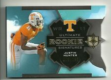 2013 Ultimate Collection Rookie Signature Booklets #179 JUSTIN HUNTER  #66/199