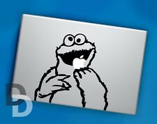 Cookie Monster Apple Macbook decal / Laptop sticker / Cartoon stencil decal