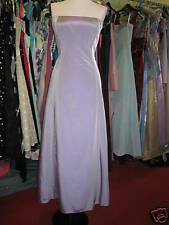 DEBUT/DEBENHAMS LILAC BUTTON TAFFETA BRIDESMAID/PROM/EVENING DRESS 6/8 PETITE/P