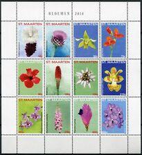 ST. MAARTEN 2014 Blumen Flowers Blüten Blossoms Pflanzen Plants ** MNH