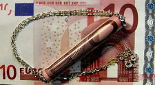 New Sterling Silver emergency 10 Euro note pendant & chain
