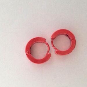 2PCS Stainless Steel Hoop Earrings for Men Women Small Hoop Huggie Ear Piercings