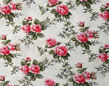 """Patchwork English Roses Fabric 100 Cotton Material by The Metre 63"""" Wide Fat Quarter 50x80cm Navy Snowflakes"""