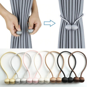 Magnetic Pearl Ball Curtain Tieback Rope High Quality Holder Hook Buckle Clip