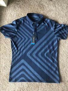 Galvin Green Golf Polo Shirt Blue Men's Medium