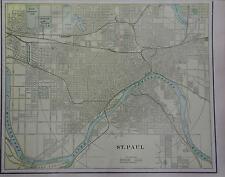 1902 St. Paul, Minnesota Original Color Atlas Map** .. 115 years-old!