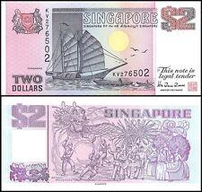 Singapore $2 Dollars, 1998, P-37, UNC