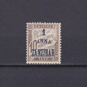 ZANZIBAR FRANCE 1897, Sc# J2, CV $21, Postage Due, MH