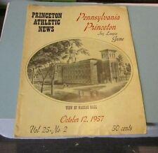 1957 Pennsylvania Quakers vs. Princeton Tigers College Football Game Program