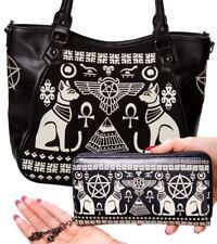 Banned Apparel Anubis Egyptian Pentagram Retro Handbag + Wallet Set