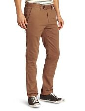 18609c389 Ted Baker Mens Lucchin Slim Chino Trousers Natural Brown W26 L28
