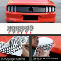 Rear Tail light Lamp Honeycomb Stickers Accessories For Ford mustang 2015-2019
