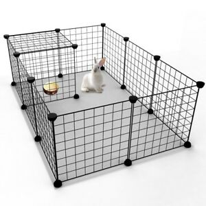 Small Pet Animal Cage Indoor Portable Expandable Metal Wire Yard Fence Playpen!