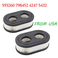 2pc Lawn Mower Air Filter for B&S Replace 798452 593260 5432 5432K