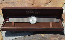 Vintage Omega 14k Gold Ladies Wrist Watch w/ Mesh Bracelet & Diamond Bezel 28mm