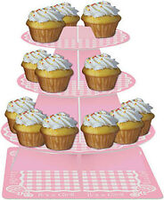 Baby Shower It's a Girl Baby Pink Cupcake Stand 3 tier