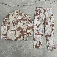 US Desert Storm Chocolate Chip Camouflage BDU Uniform Jacket and Trousers Sz S