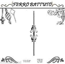PANNELLI PALETTI FOGLIATI FERRO BATTUTO X SCALA RINGHIERE CANCELLO H 90cm L 16cm