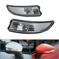 Pair Left&Right Side Wing Mirror Indicator Light Lens For Ford Fiesta 2008-14 AU