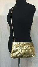 FABULOUS GOLD EMBOSSED CLUTCH SHOULDER BAG VINTAGE by SAKS FIFTH AVENUE