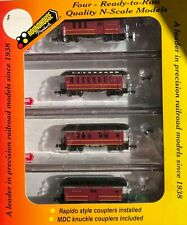 Atlantic Coast Line 4-pack old time passenger cars (N gauge)