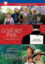 "NEW, SEALED 3 movie DVD: ""Quartet"", ""Gosford Park"", ""Ladies in Lavender"""