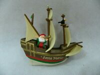 Vintage Hallmark 1992 Santa Maria Christmas Ornament Ship Nautical History