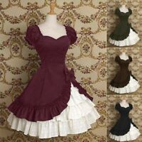 Lolita Dress Cosplay Women Princess Girl Party Evening Gown Polyester Plus Size